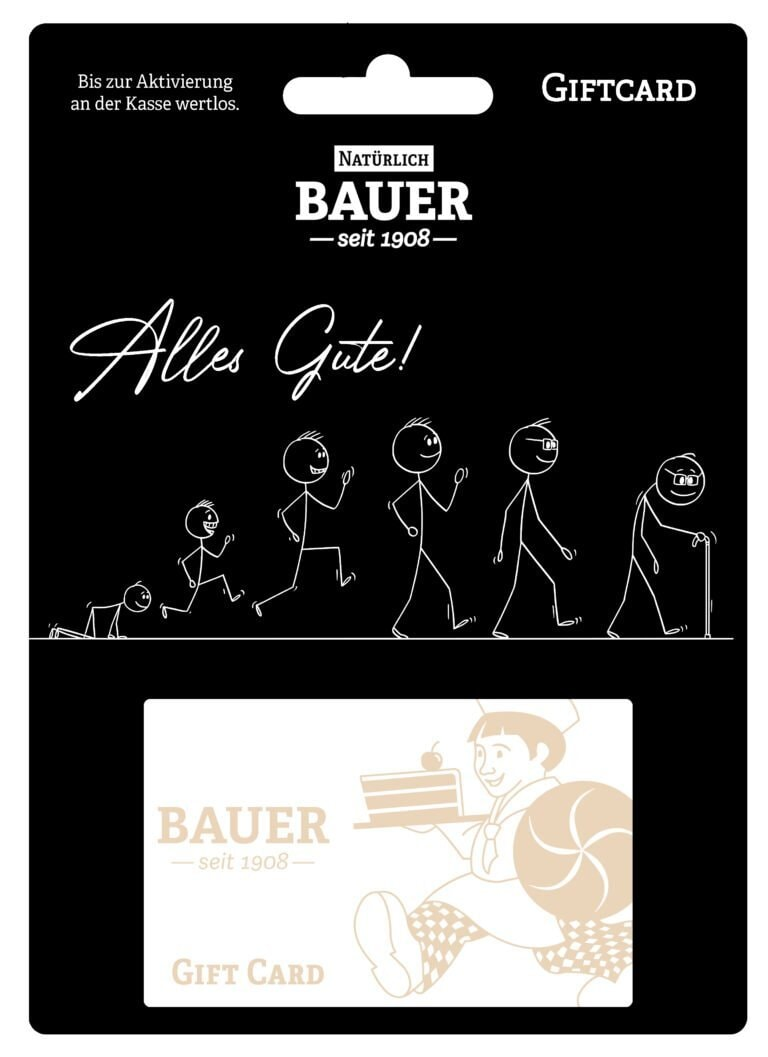 "Gift Card ""Alle Gute"""